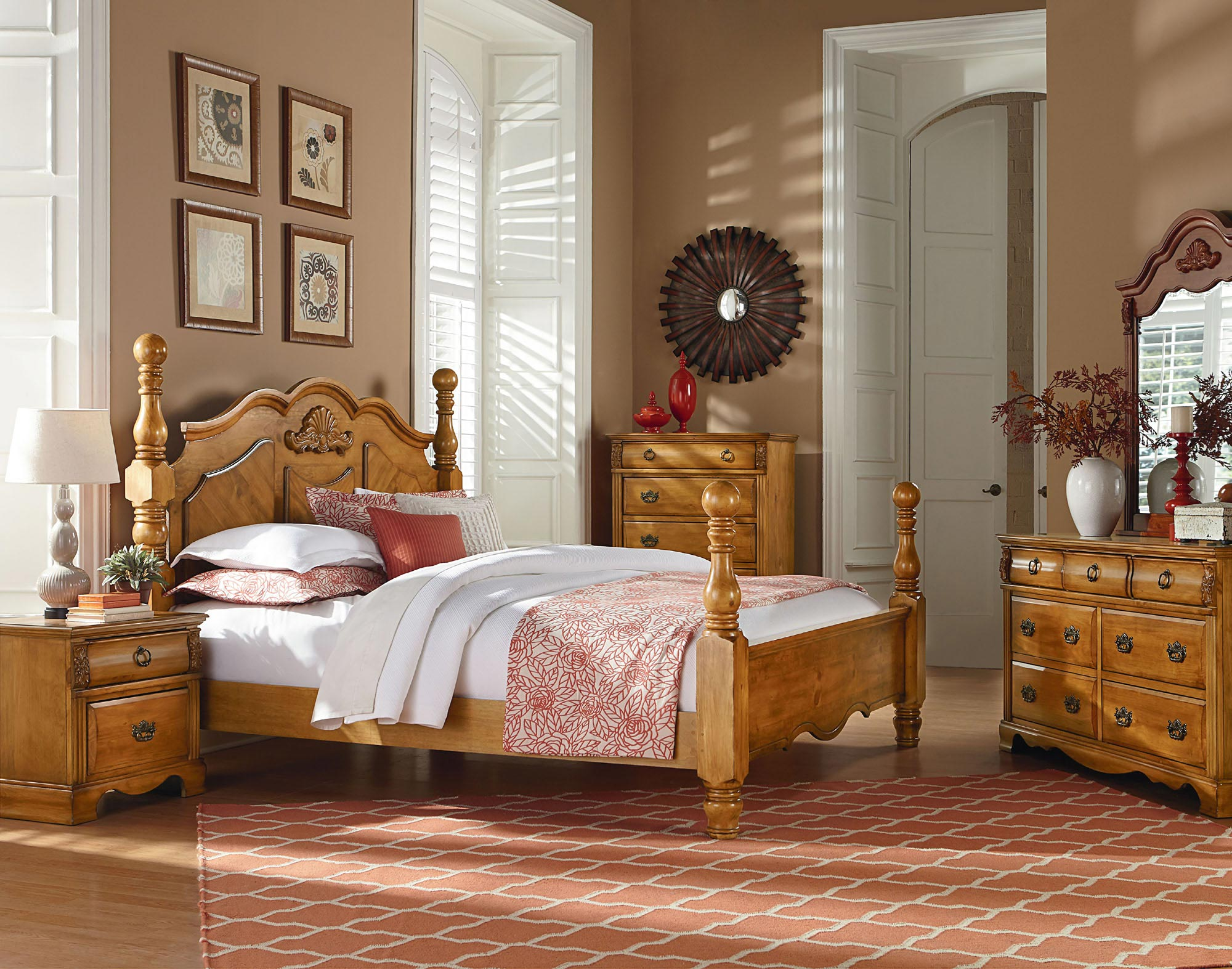Georgetown Queen Poster Bed Standard Furniture Home Gallery