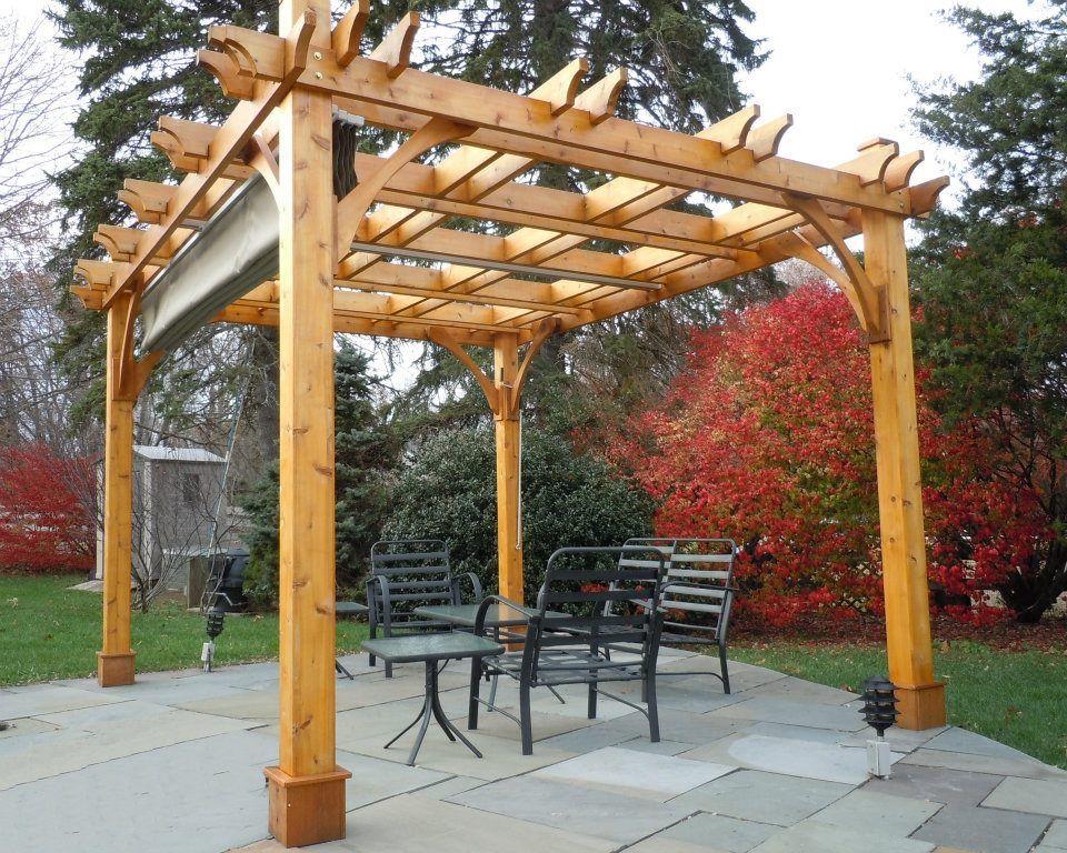 Cedar Breeze Pergola 10x12 Home Retractable Pergola Canopy Outdoor Wooden Pergola