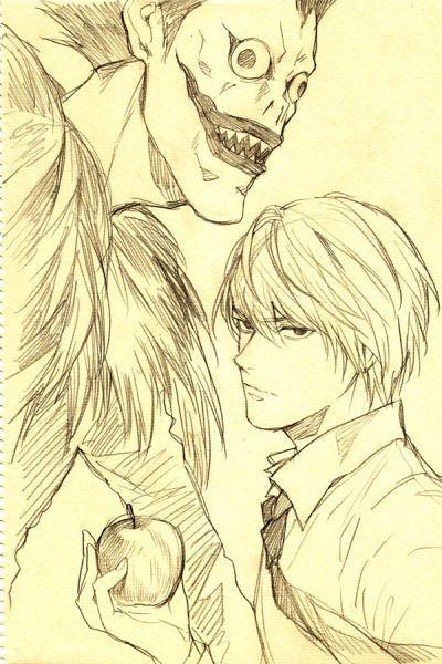 Light And Ryuk Death Note Fanart Death Note Light