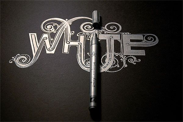 White. word. by SHCH graphics group , via Behance