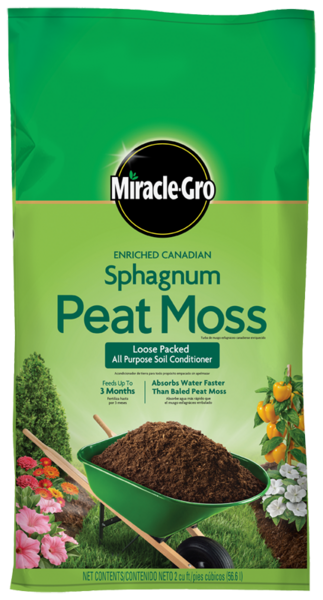 Miracle Gro Enriched Sphagnum Peat Moss Soils