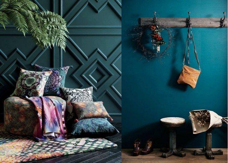 Déco chambre bleu canard pour un intérieur serein et agréable - couleur des portes interieur