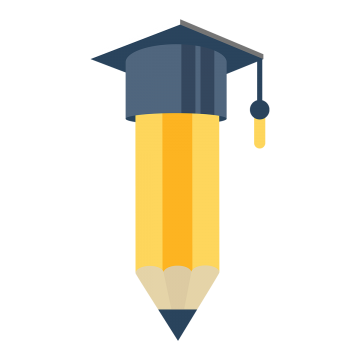 Pencil With Collage Cap Illustration Pencil Collage Cap Png And Vector With Transparent Background For Free Download