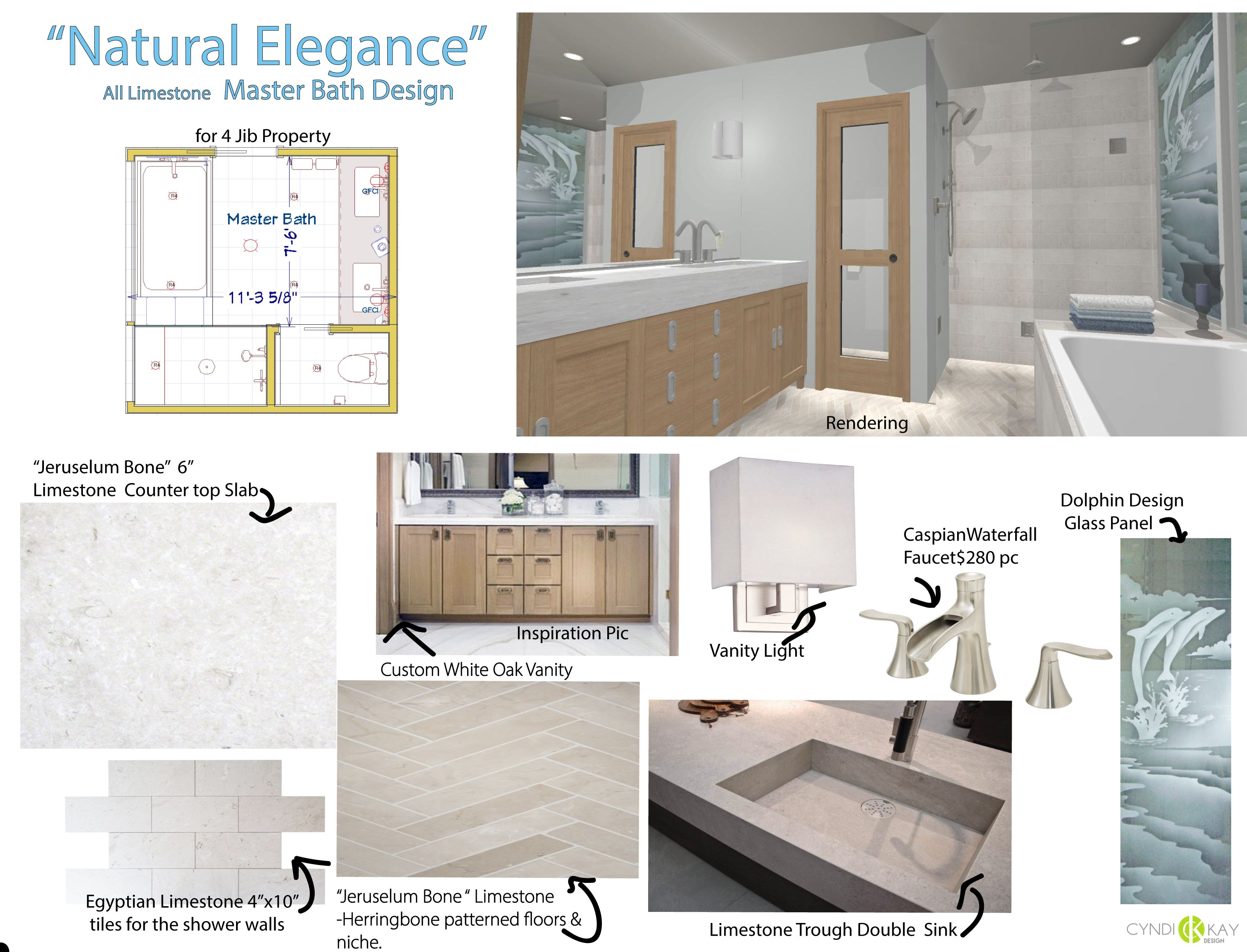Option 1 this is a simple and elegant bathroom design displays dramatic herringbone cut floor tile extra thick countertop slab and standard size tile in shower vanity dailygadgetfo Choice Image