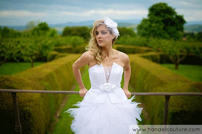 Robe de mariée évolutive, collection Plumetis   Création Hanael Couture©   Crédits photo : L'As de cœur