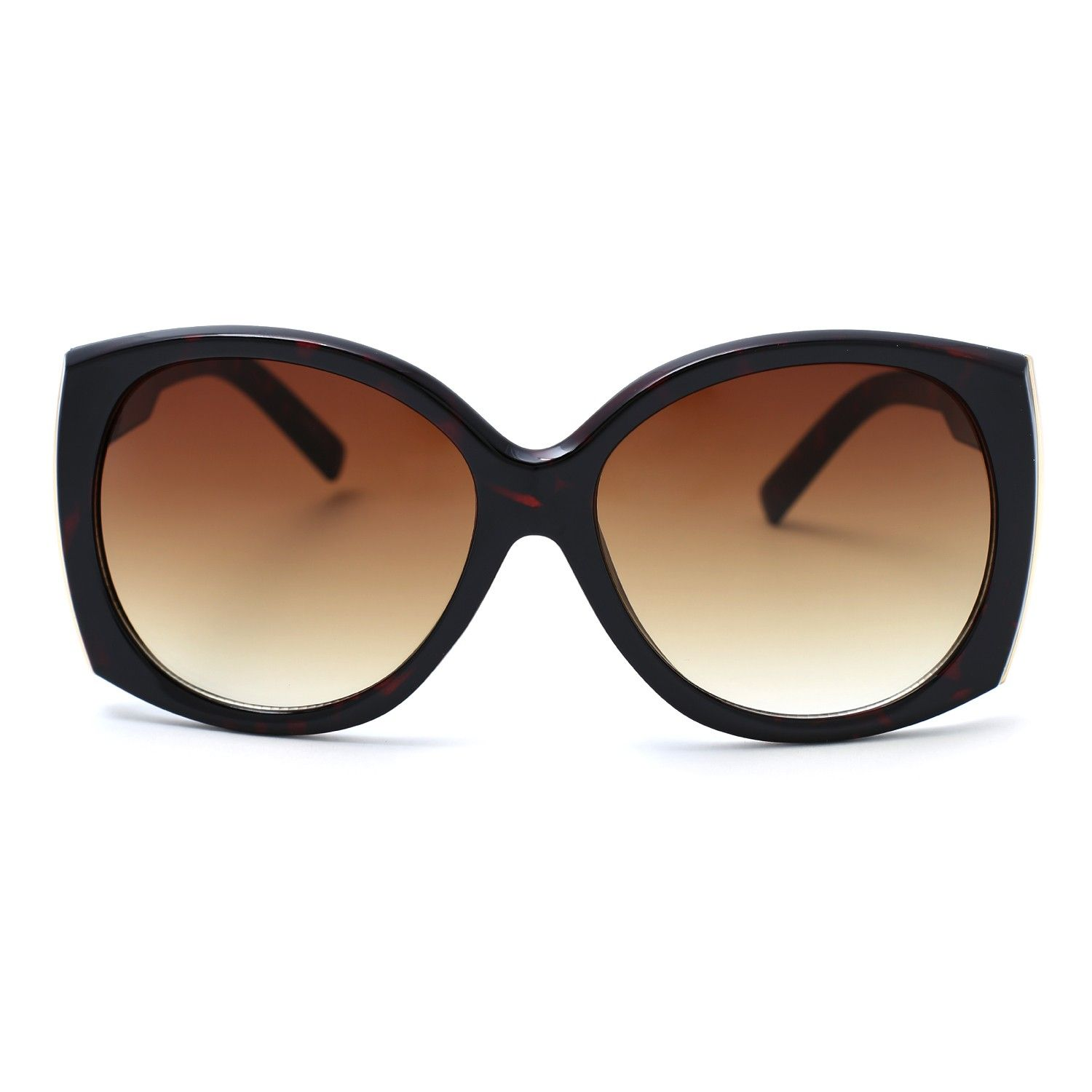 Oversized Square Lense Brown Sunglasses #11foxy