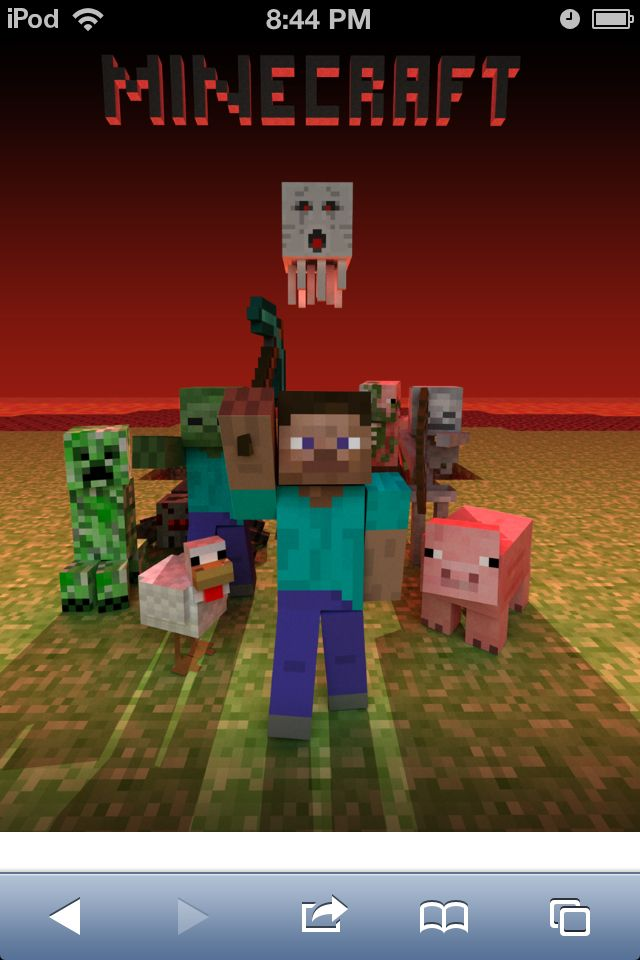 A minecraft related pic featuring steve chicken pig ghast skeleton zombie pigman creeper - Minecraft creeper and steve ...
