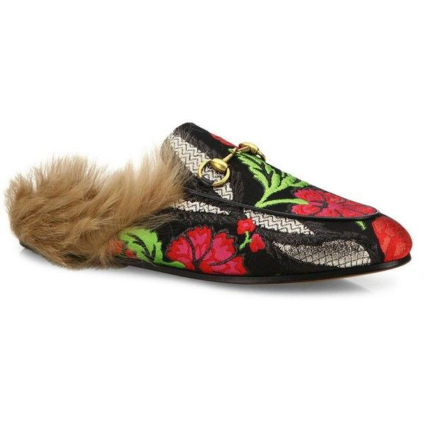 1yHyOLOCYp Princetown Brocade Fur Mules HowVeS7X