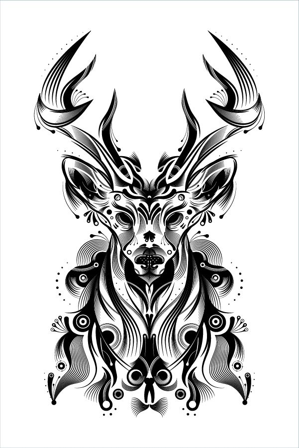 How to Create a Stylish Deer with Brushes and Graphic