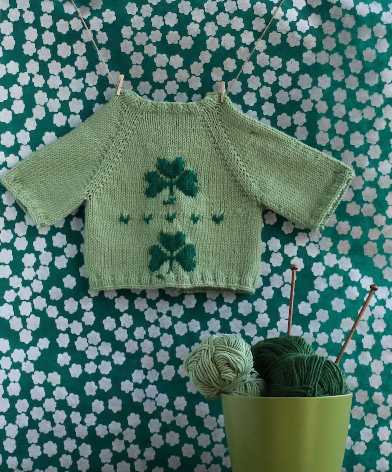Knit by Bit: free shamrock baby cardigan knitting pattern | Baby ...