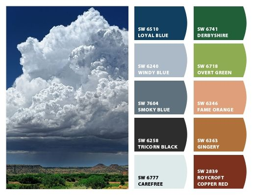 Stormy Color Inspirations In New Mexico House Paint