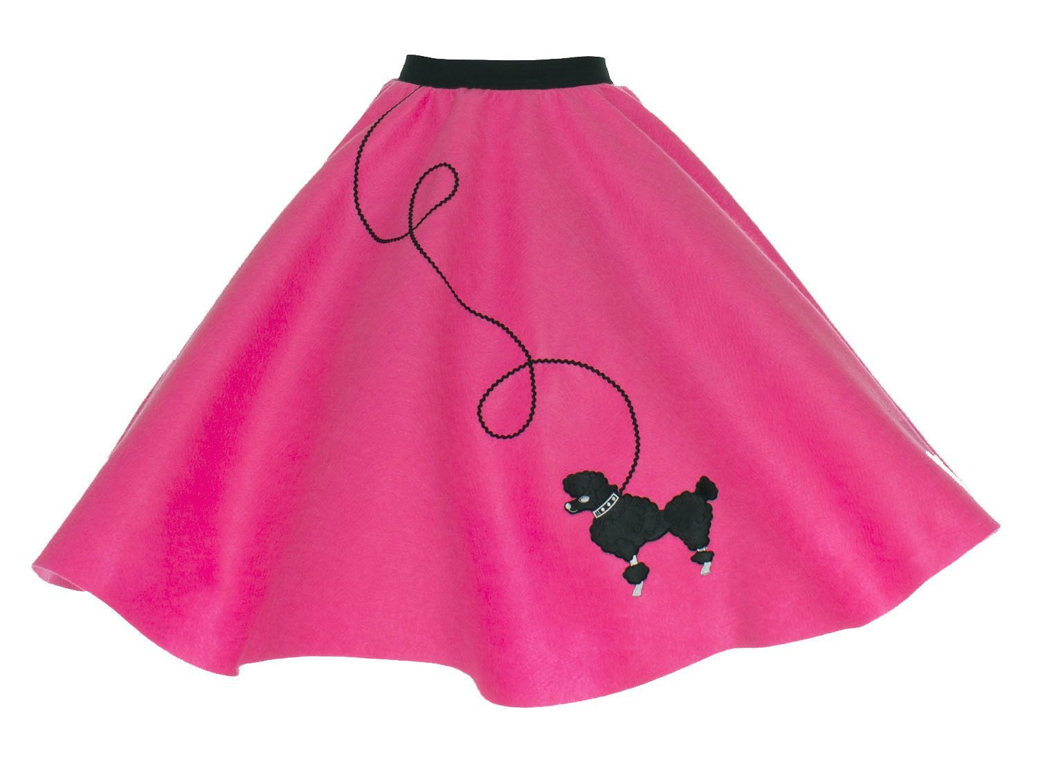 "NEW 6 PC NEON PINK 50/'s POODLE SKIRT OUTFIT ADULT SiZe Small WAIST 25/""-32/"" L25/"""