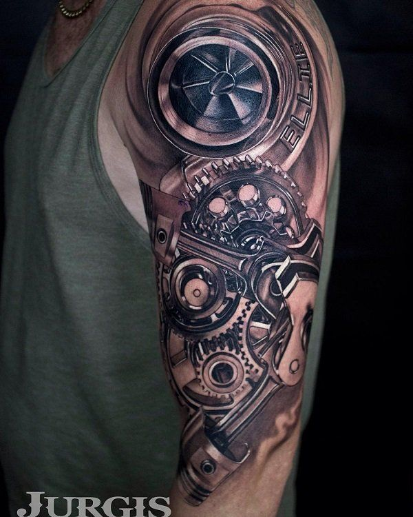 cool turbo stuff tattoo ,