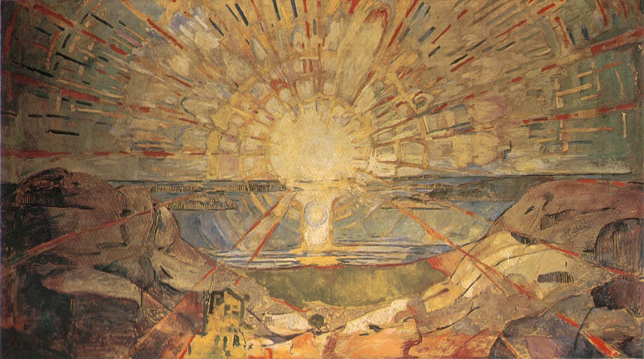 Edvard Munch The Sun Painting Edvard Munch Art