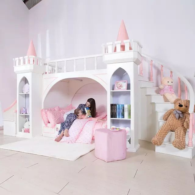 Us 4350 0 0125tb005 European Style Modern Girl Bedroom Furniture Princess Castle Children Bed With Slide Storage Cabinet Double Bed Children Beds Aliexpr Girls Bedroom Modern Toddler Bedrooms Girls Bedroom Furniture