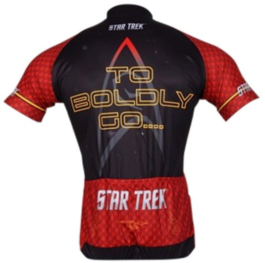 798e920f4 Star Trek Engineering Women s Cycling Jersey - Red - back view - FREE  shipping in the
