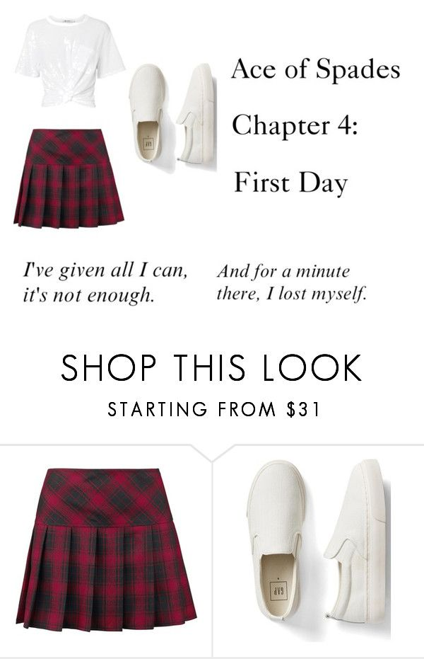 """""""Ace of Spades Chapter 4: First Day"""" by ji-spades ❤ liked on Polyvore featuring Gap, T By Alexander Wang and POLICE"""