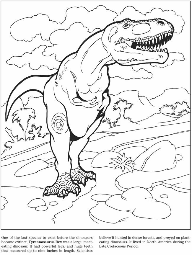 Welcome to Dover Publications 3-D Coloring Book - Dinosaurs | Kids ...