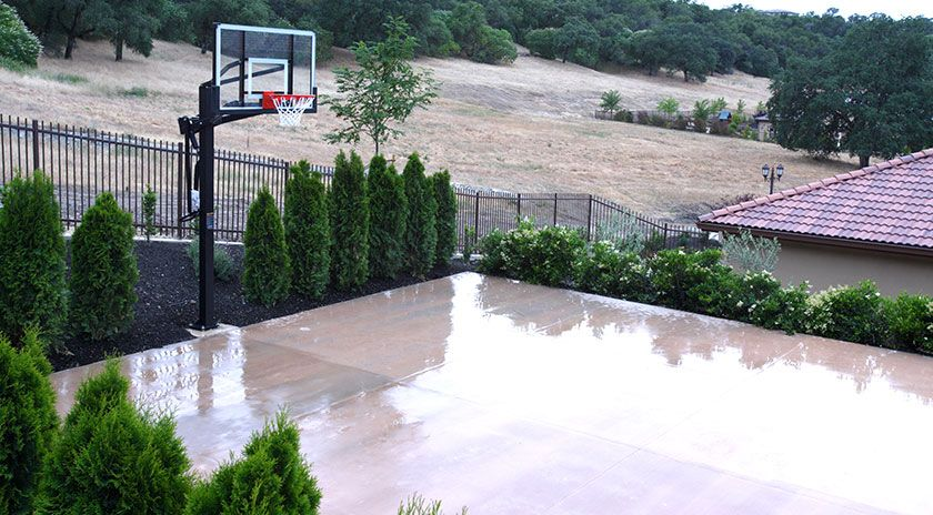 Build yourself a basketball court in your yard!   Outdoor ...