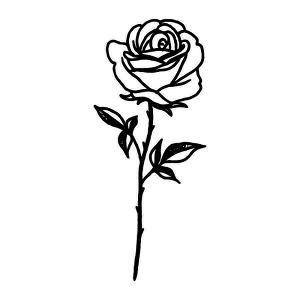 Noir Tattoo Semi Permanent Tattoos By Inkbox Inkbox In 2020 Rose Tattoos For Men Rose Tattoos On Wrist Small Rose Tattoo