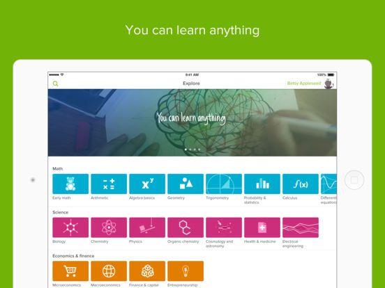 Khan Academy on the App Store Khan academy, Science