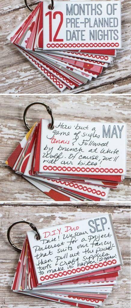 diy valentine gift ideas for boyfriends husbands 12 months of dates diy valentines gifts for him - Valentines Gifts For Boyfriends