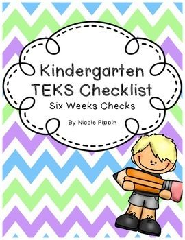 Kindergarten TEKS Checklist (6 Weeks Checks) 20192020