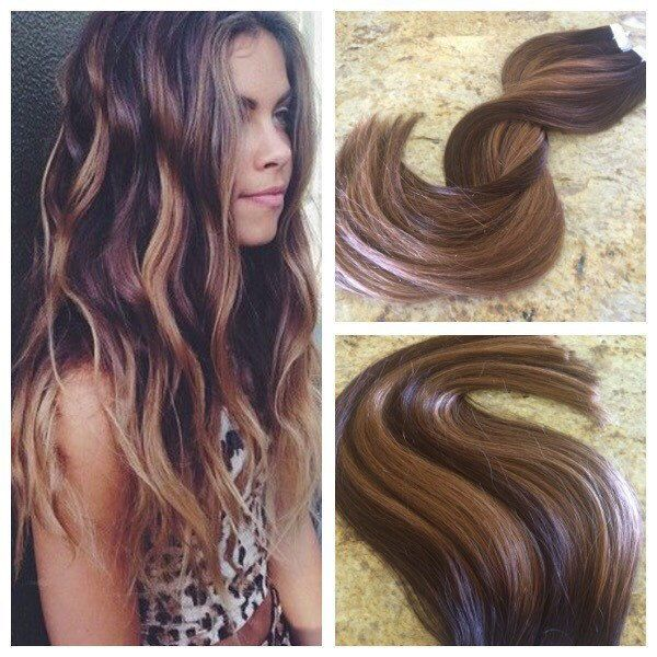 Brown 4 highlight with caramel blonde skin weft putape in human brown 4 highlight with caramel blonde skin weft putape in human hair extensions pmusecretfo Gallery