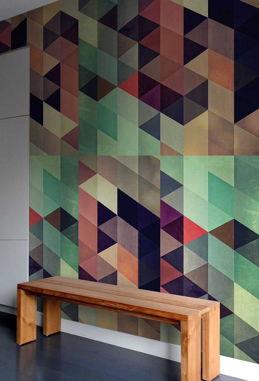 create a captivating accent wall with geometric patterned wall tiles - Wall Designs With Tiles