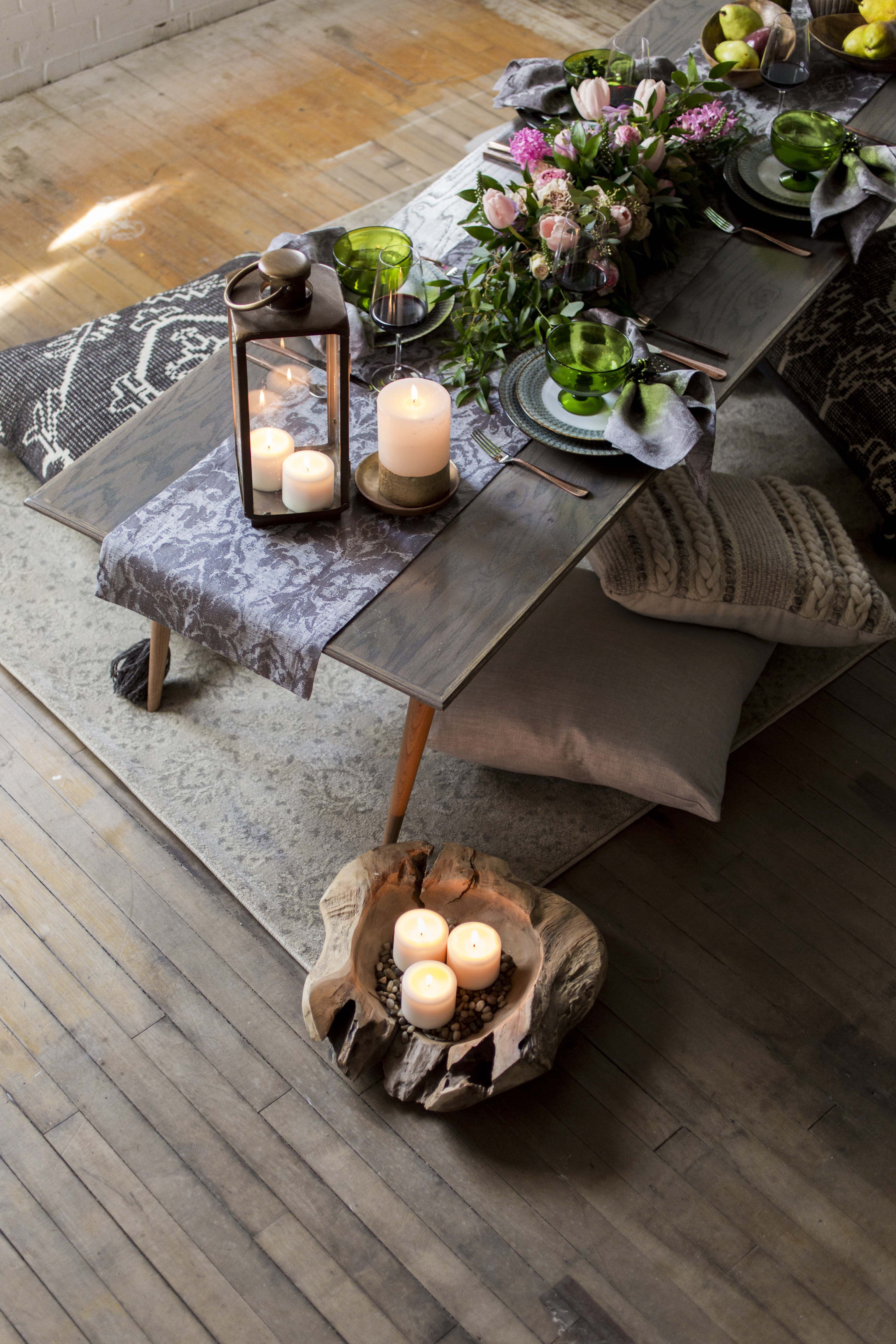 dining boho style with bodrum s iznik gray table linens tablelinens beautiful linens dining on boho chic kitchen table decor id=70860