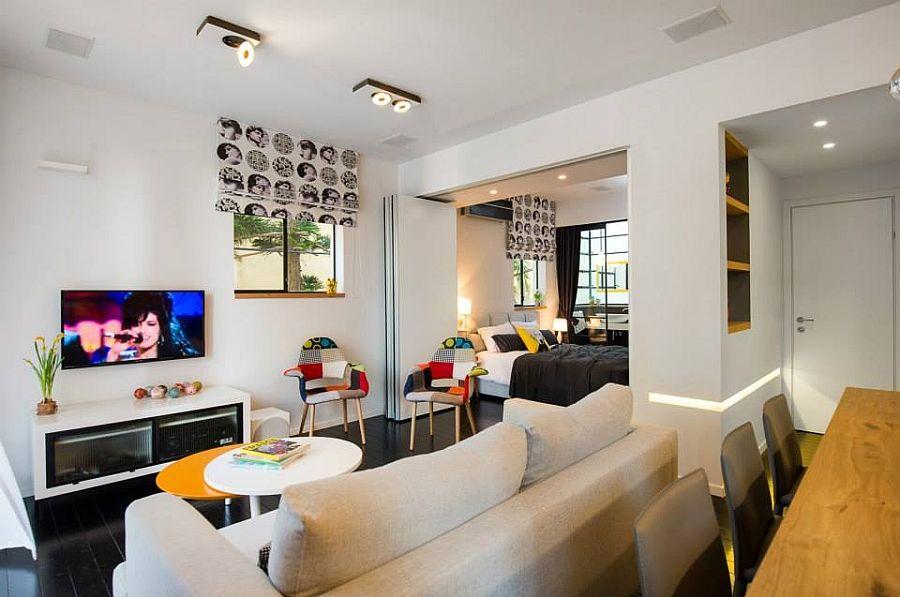 Smart Modern Renovation Transforms Small Urban Apartment   Interior ...