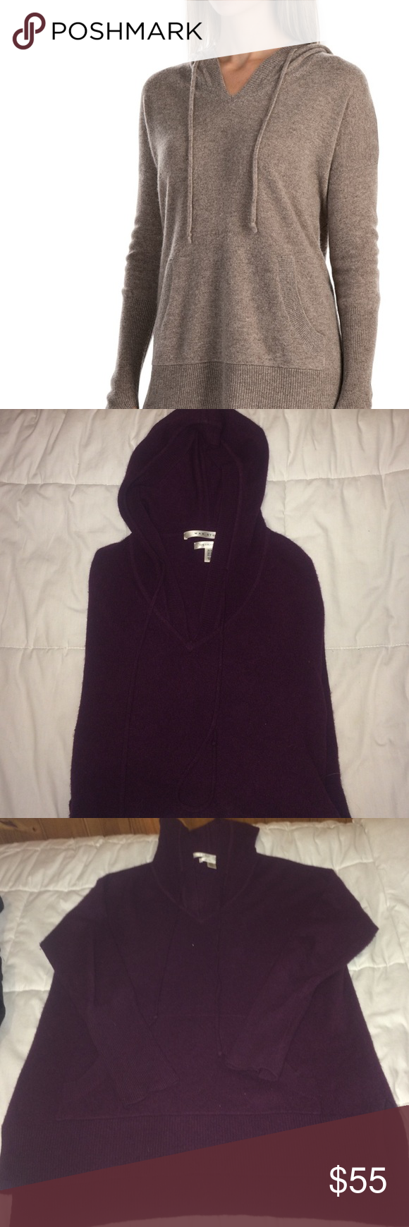 Max studio 2 ply cashmere hoodie sweater | Cashmere hoodie ...