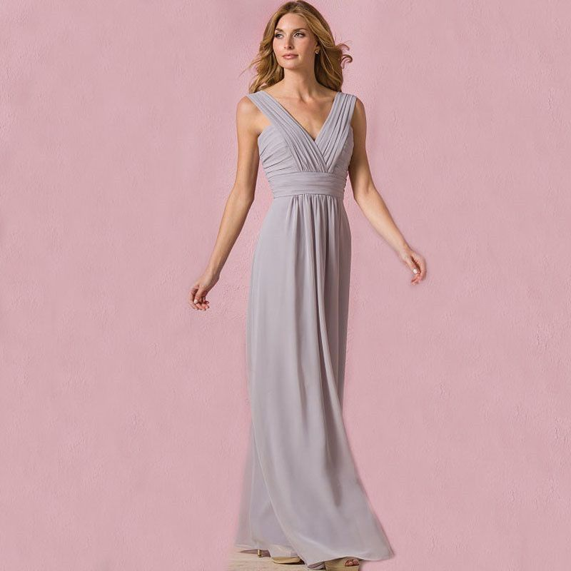 Grecian Bridesmaid Dresses with Sliver