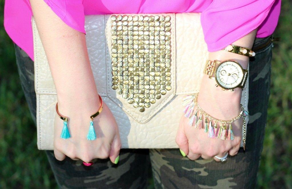 tassel bracelet trio