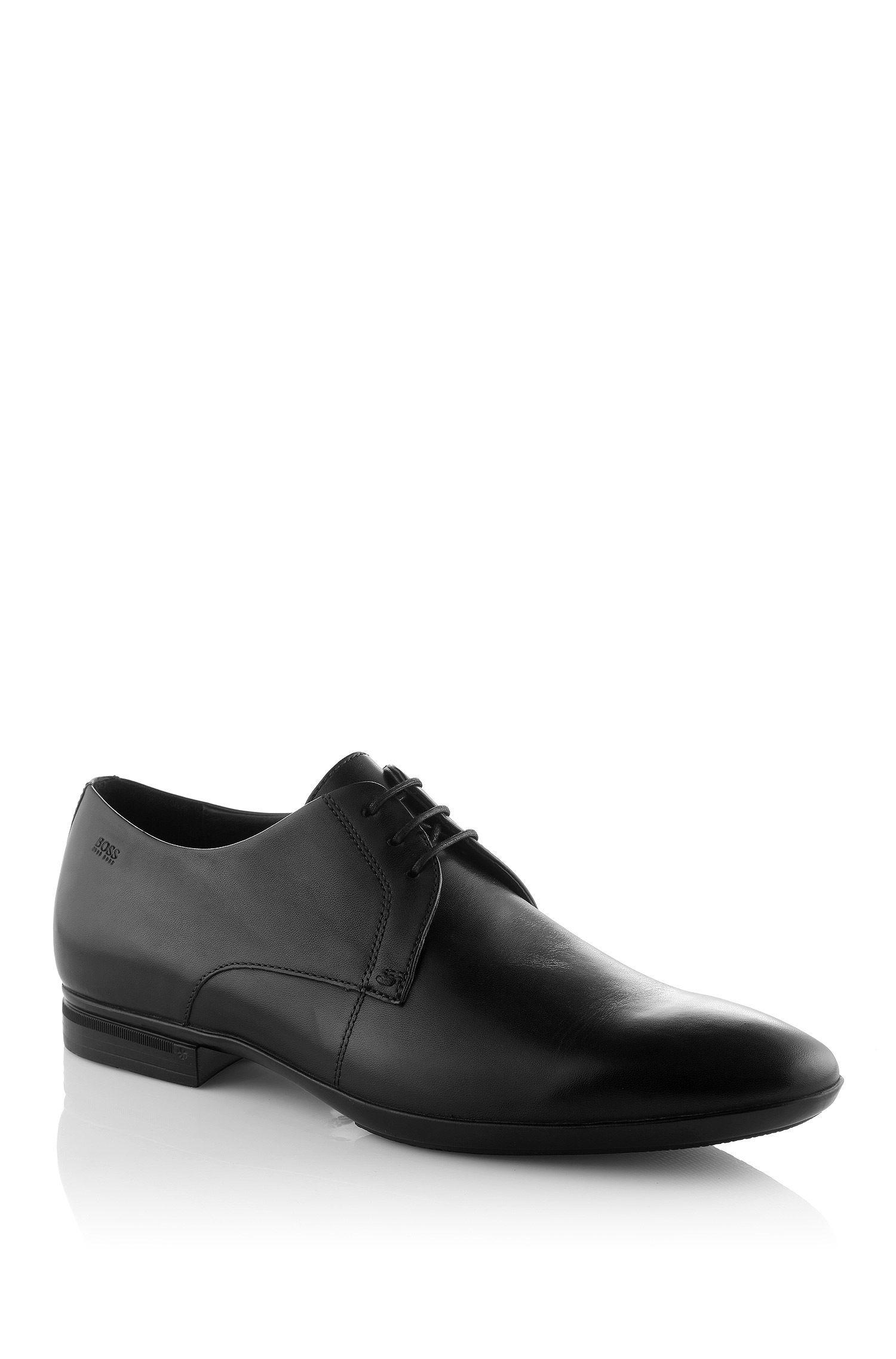 BOSS Zapatos con cordones 'SANNO' en piel curtida Negro free shipping