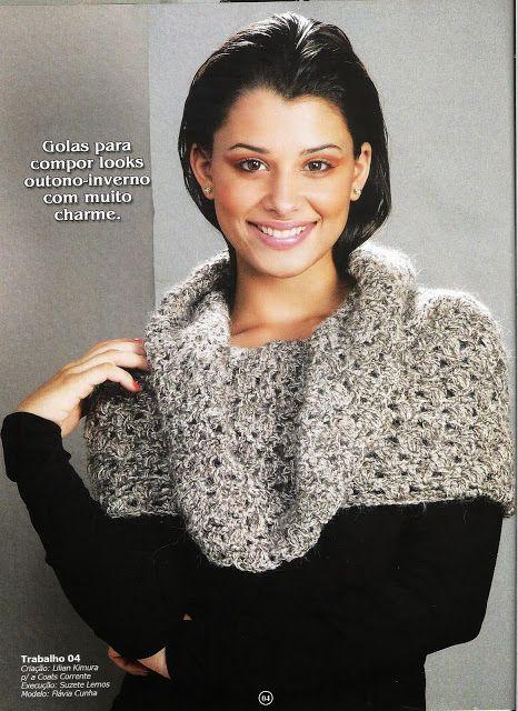 Cuello Bufanda con caida Patron - Patrones Crochet