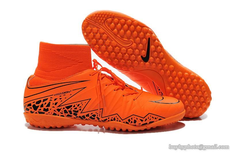 huge discount 2dc37 86b73 Nike Hypervenom Phelon II Flyknit TF Soccer Shoes Orange Black