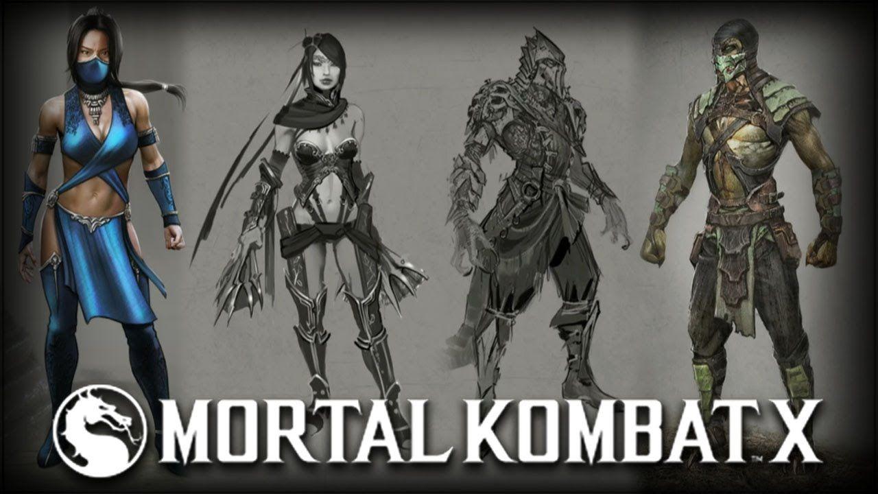 Mortal Kombat X Kitana Reptile Alternate Skins Concept Art