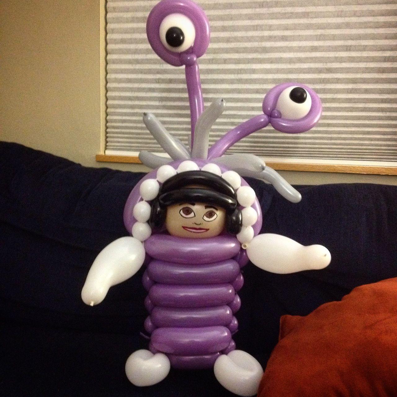 Boo de Monstruos S.a. con globos   -    Balloons Boo (Disney's MonstersInc)