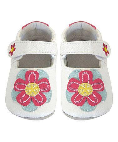 Look what I found on #zulily! White Flower Bootie by Jack & Lily #zulilyfinds