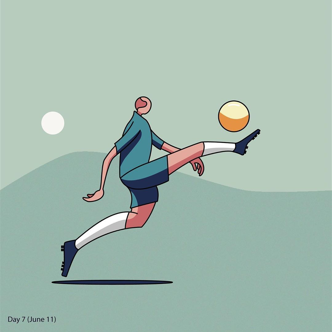 Day7 Of The 100 Days Vector Drawing Challenge Soccer 100daysofvectorbyls Fitness Football Soccer Illustratio Drawing Challenge Vector Drawing Soccer