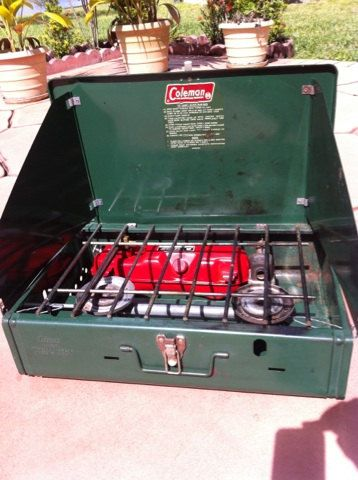 Vintage Coleman Two Burner Camp Stove Model 425e By Creationsbytia 12 99 Camping Stove Vintage Travel Camping