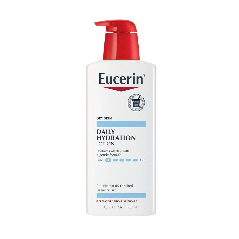 Eucerin Daily Hydration Body Lotion 16 9oz Body Lotion Cream Lotion For Dry Skin Paraben Free Products