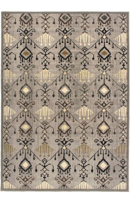 E Carpet Gallery Ikat Glitter Ikat Glitter Machine Made Light Gray Rug 5' x 7' Light Gray Rug
