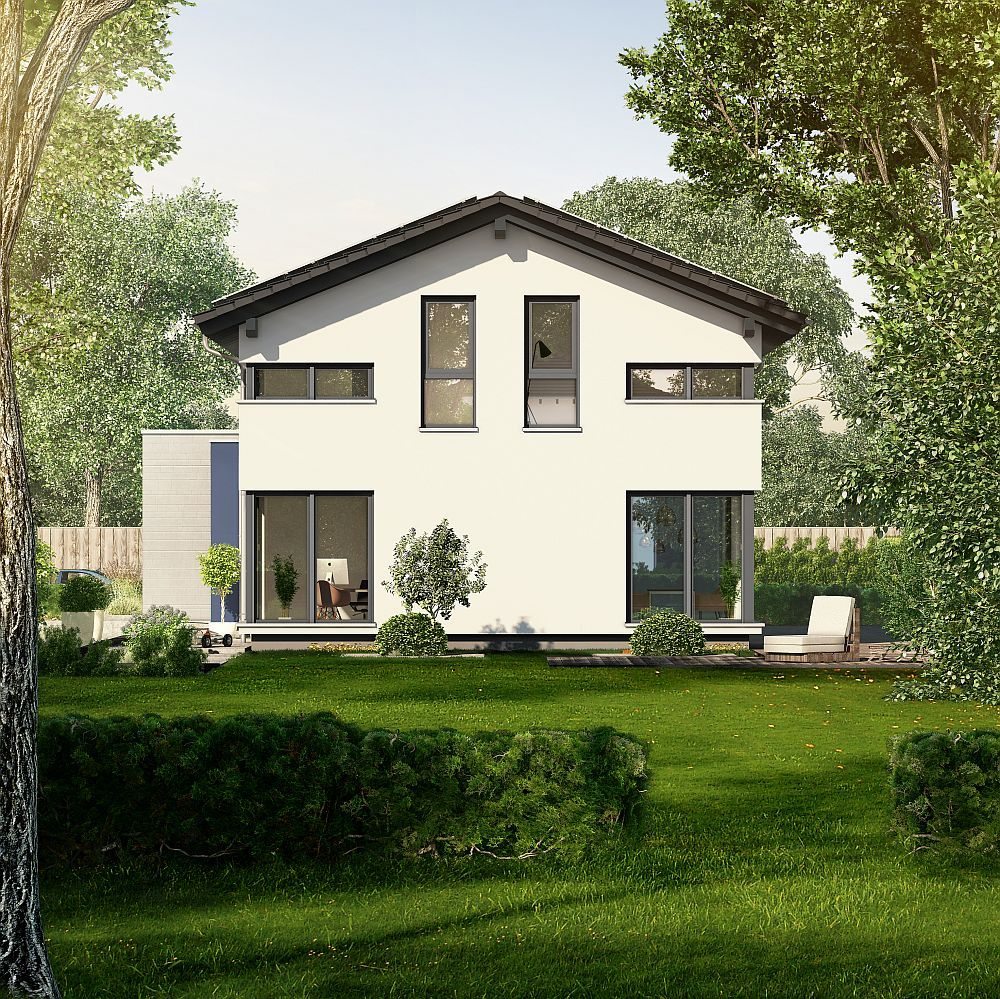 pin von hausbaudirekt auf hausbaudirekt okal haus haus und einfamilienhaus. Black Bedroom Furniture Sets. Home Design Ideas