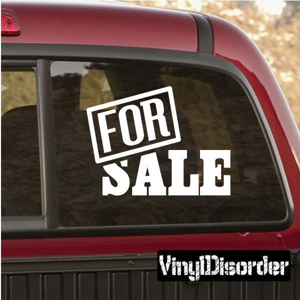 Sign Decal Vinyl Decal Car Decal Sale Signs Car Decal - Vinyl decal car signs