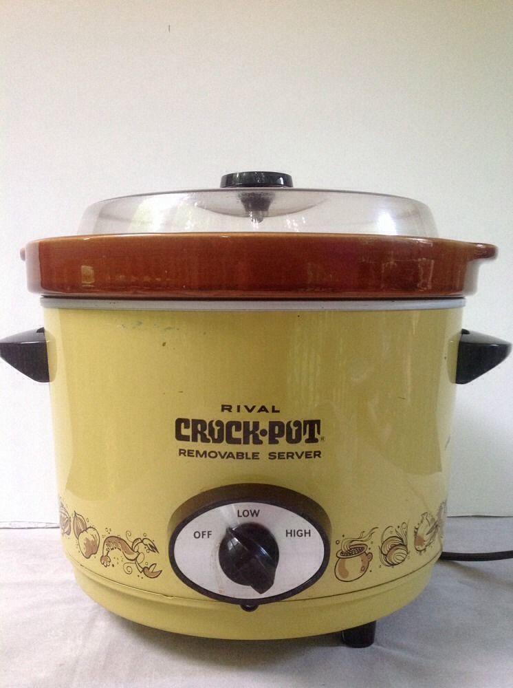 Vtg Rival Crock Pot 3654 6qt Old Slow Cooker Japan Vintage