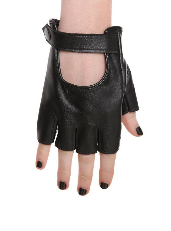 Black Moto Gloves,