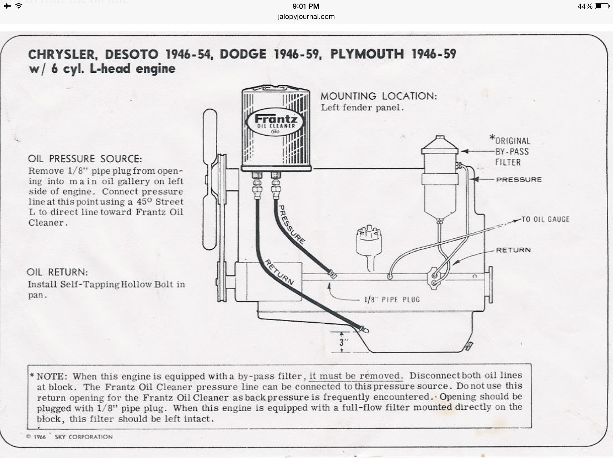 medium resolution of 1946 1959 6 cylinder oil outline find this pin and more on dodge power wagon