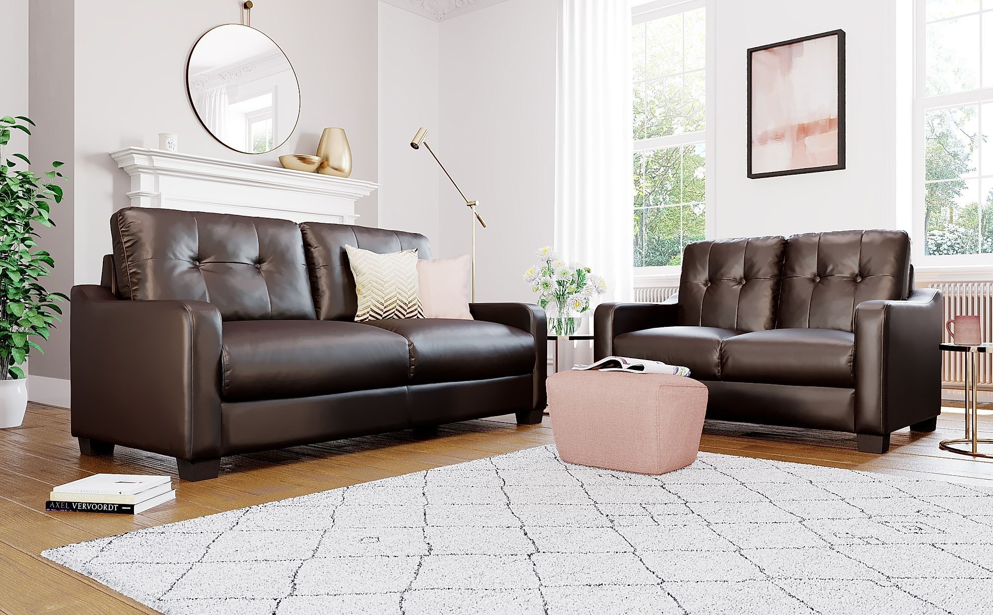 Belmont Brown Leather 3 2 Seater Sofa Set Grey Leather Sofa Sofa Set 2 Seater Sofa